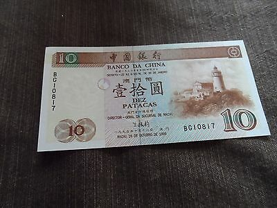 MACAO 10 patacas 16-10-1995 P90 UNC lighthouse