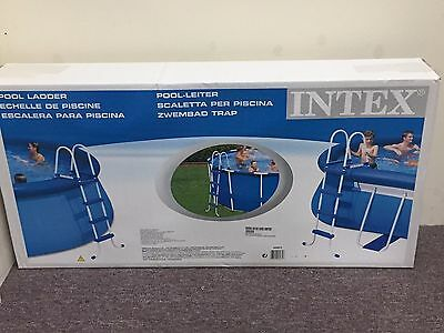 Above Ground Pool Metal Ladder 4 Steps Intex Brand New In The Box - Extra Cheap