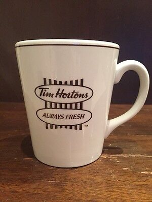 Tim Hortons Donuts Steelite Coffee Mug Cup Always Fresh Horton's Tims Canada Tea