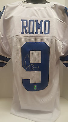 Tony Romo Signed autographed Dallas Cowboys White Custom Jersey GTSM