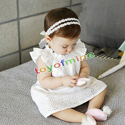 1pc Lace Flower Kids Baby Girl Toddler Headband Hair Band Headwear Accessories