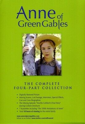 Anne of Green Gables: The Complete Four-Part Collection (2010, DVD NEW)