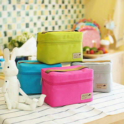 Portable Insulated Thermal Cooler Bento Lunch Box Tote Picnic Storage Bag Pouch