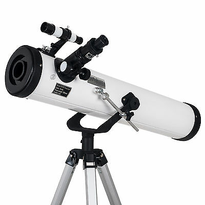 Profession Reflector Telescope with Tripod and Eyepieces dual purpose 700x76mm