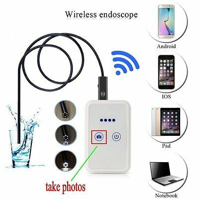200W Waterproof WiFI Borescope Inspection Endoscope Snake Camera iPhone Android