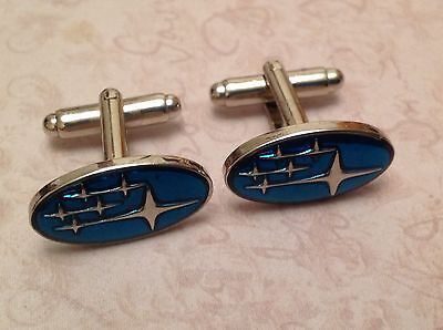Subaru Cufflinks Silver In Box Collectable Bnib Cuff Links  Sti Impreza Legacy