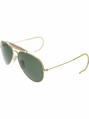 Ray-Ban Men's Outdoorsman RB3030-L0216-58 Gold Aviator Sunglasses
