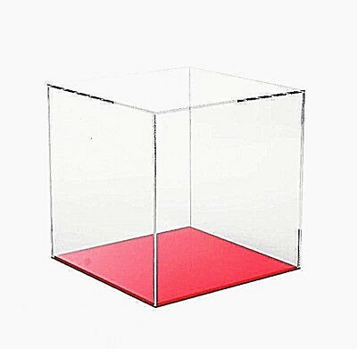 Acrylic Display Cube Trophy Display Case 5 Sided Box Acrylic Display Case