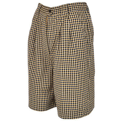 Tail Womens Knee Length Hounds Tooth Pleated Golf Shorts -  Black/Taffy - 8UK