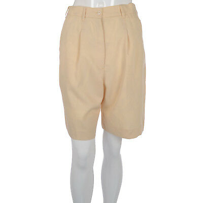 Tail Womens Ladies Knee Length Pleated Golf Bottoms Shorts - Cream - 8UK