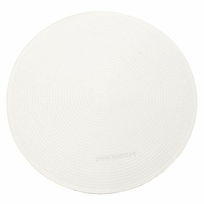 34cm Round White Woven Fabric Placemats Place Setting Mat Dining Room Table