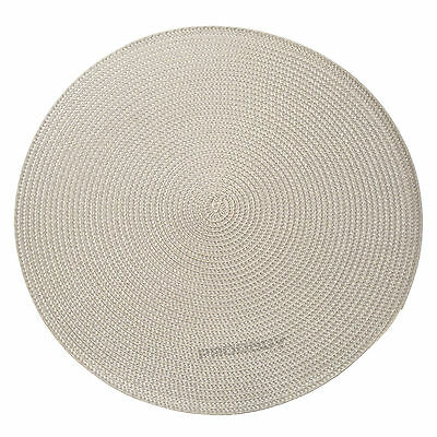34cm Round Grey Woven Fabric Placemats Dining Room Table Setting Place Mats