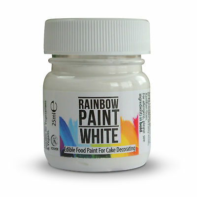 Rainbow Dust Edible WHITE Food Paint Colour for Cup Cake Sugarcraft Paste Décor