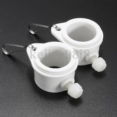 1-Pair Flagpole Rotating Flag Pole Mounting Rings Grommet Clip Attachments UK