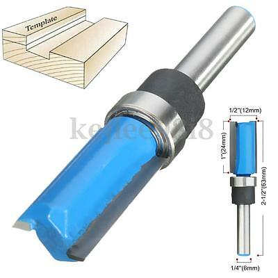 """Mortise / Template Flush Trim Router Bit With 1/4"""" Shank 1/2'' x 1'' x 2-1/2''"""