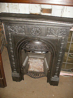 Reclaimed attractive Victorian combination cast iron fireplace