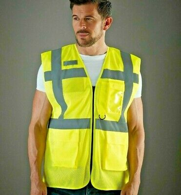 Yoko Hi Vis Executive Open Mesh Waistcoat Breathable Lightweight Vest (HVW820)