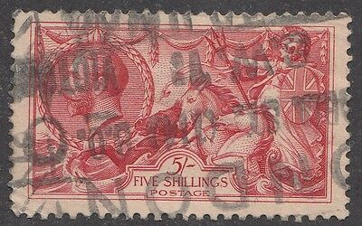 "Great Britain SG #413a  5s  red  ""KE Geroge V"""