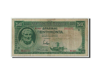 [#312894] Greece, 50 Drachmai, 1939, 1939-01-01, KM:107a, F(12-15)