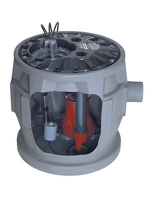 Liberty Pumps Complete Sewage Package, 4/10 HP, 115V, 41 Gallon Basin - P382LE41