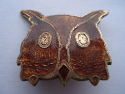 Vintage Brown Owl Leader Brownies Enamel Pin Badge