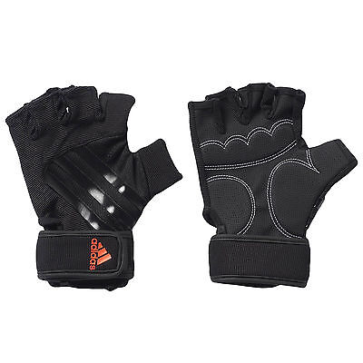 adidas Performance Adults Sports Gym Training Cushioned Gloves - Black - Small