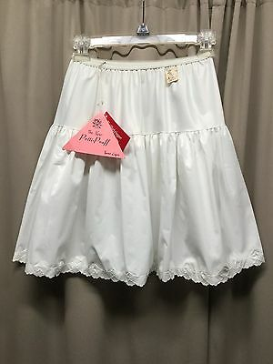 2 VTG Baronet Petticoat Half Slip Girls Small NOS White W Store Tags Never Worn