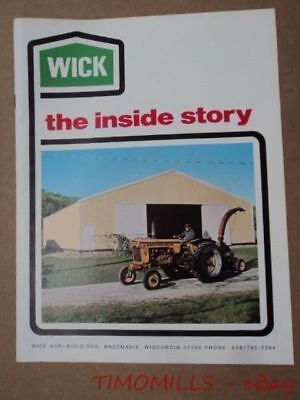 c.1972 Wick Agri-Building Engineered Steel Farm Building Catalog Mazomanie WI