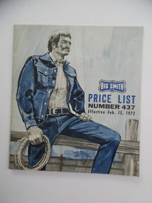1972 BIG SMITH Work Wear Clothes Catalog Vintage Sanforized Overalls Coats Denim