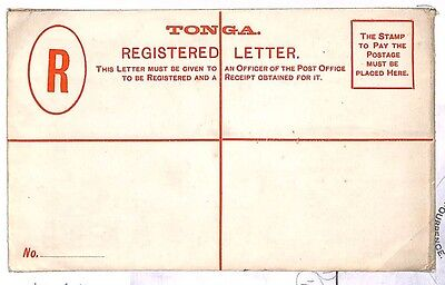 Y191 Tonga BC Postal Stationery Registered Letter {samwells-covers}PTS