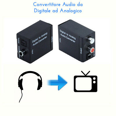Convertitore Audio Da Digitale Ottico Toslink /coassiale Ad Analogico Rca Stereo