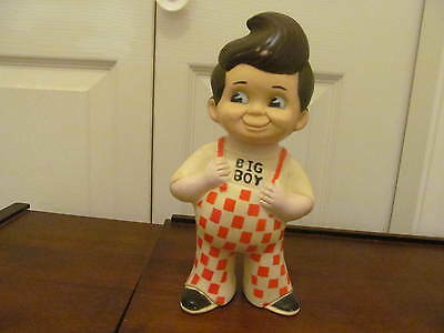 Vintage 1970's Big Boy Restauant Rubber Doll Bank