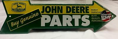 John Deere Farm Equipment Metal Sign 20 x 6 Genuine Parts Made In USA