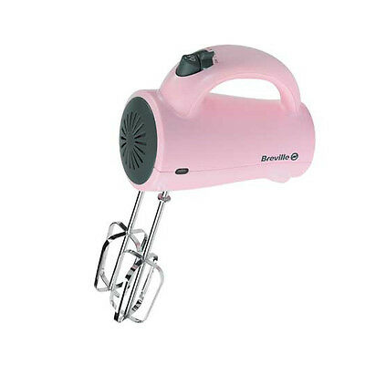 Breville Pink VFP070 Pick and Mix Hand Mixer Blender 200W - 5 Speed Settings