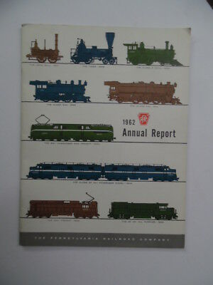 1962 Pennsylvania Railroad Company PRR Annual Report Vintage Original VG