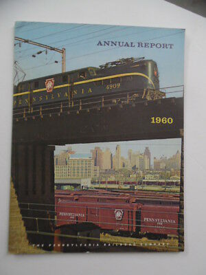 1960 Pennsylvania Railroad Company PRR Annual Report Vintage Original VG