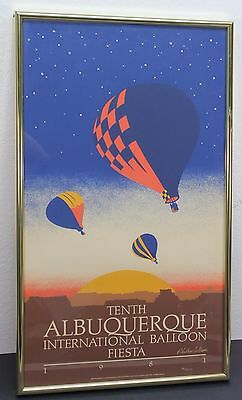1981 Tenth Albuquerque International Balloon Fiesta Poster Limited 46/5000 16x28