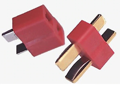 Deans  style T Plug Connector RC, Male & Female Pairs, 1-20 pairs - UK STOCK