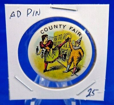 County Fair Old Pin Pinback Button 1 1/4""