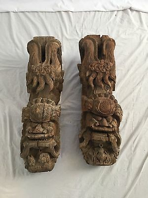 Carved Wooden Chinese Corbels