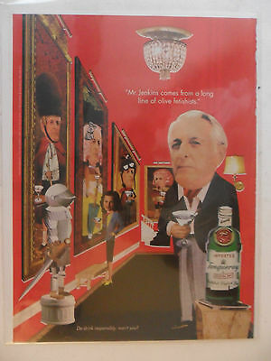 1998 Print Ad Tanqueray Gin Distilled English ~ Mr. Jenkins Olive Fetishists