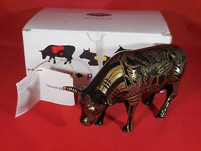 """Cow Parade #9171 """"Tattooed Bovine"""" 2000 Retired - Box & Hang Tag - Excellent"""