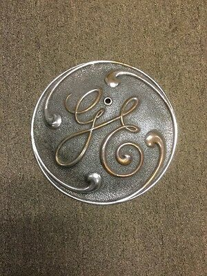 Antique 12 In. General Electric Ge Sign Plaque Name Plate Railroad Turbine