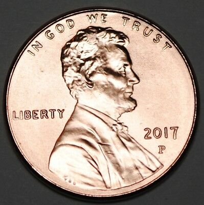 United States 2017 P 1 Cent Lincoln Shield Cent BU USA Penny UNC KM# 468