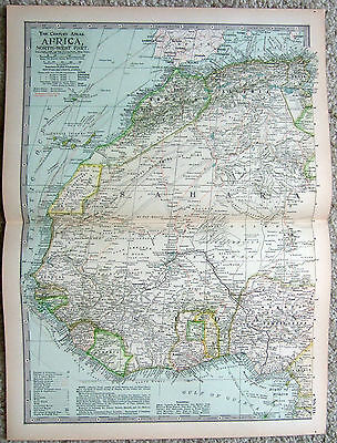 Original 1897 Map of Northwestern Africa by The Century Company