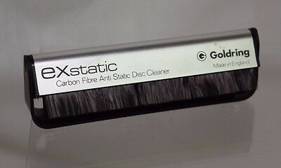 EXstatic Carbon Fibre Anti Static Disc Cleaner Brush Made in England Goldring