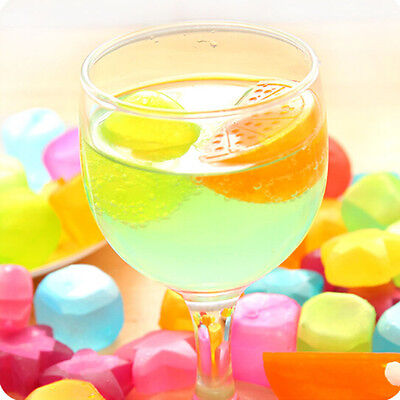 Plastic Freezer Ice Cube Cool Drink Cold Fruit Cubes Reusable Colored Home Party
