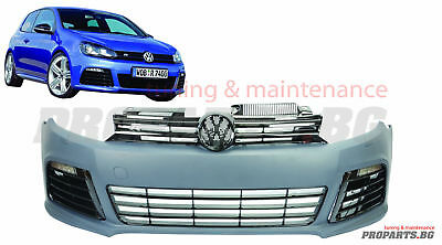 Vw Golf 6 Mk6 Front R-Line R 20 Style Sport Plastic Front Bumper Body Kit+ Drl