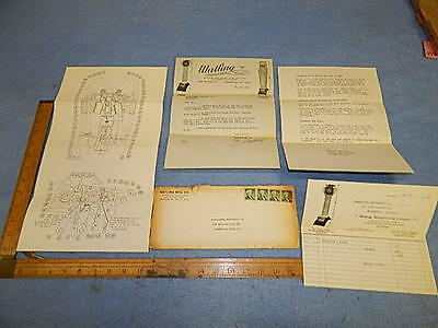 1961 Watling SPRINGLESS SCALES Parts Catalog, Letter & Information