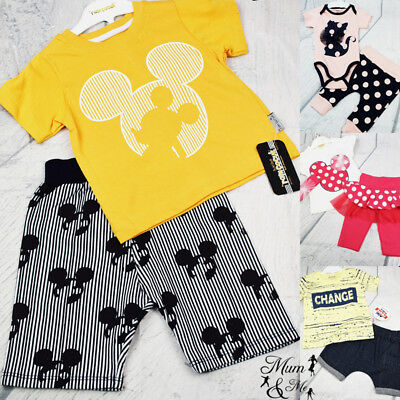 2 pieces Set Cotton Girl Boy Sports T-shirt Pants Set Toddler Newborn Romper